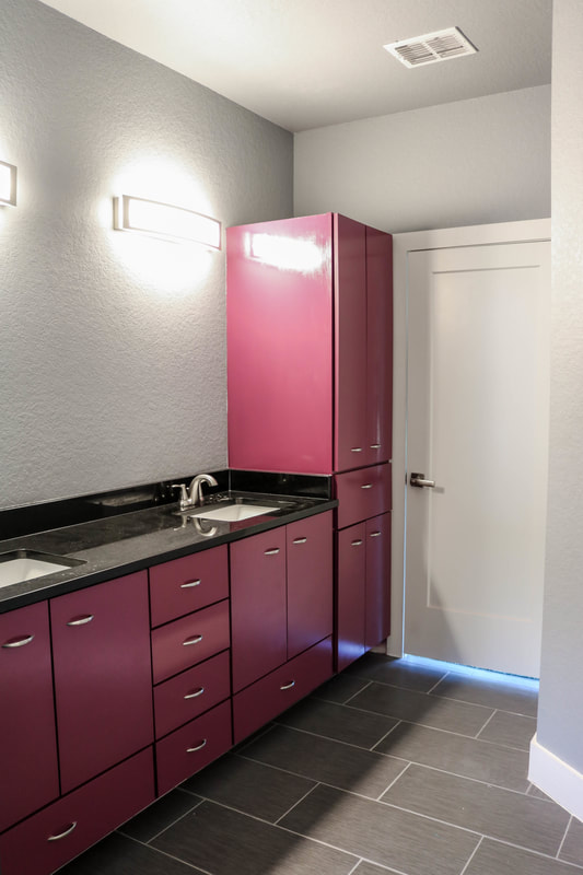 Modern Bathroom Cabinets by Domain Homecrafters