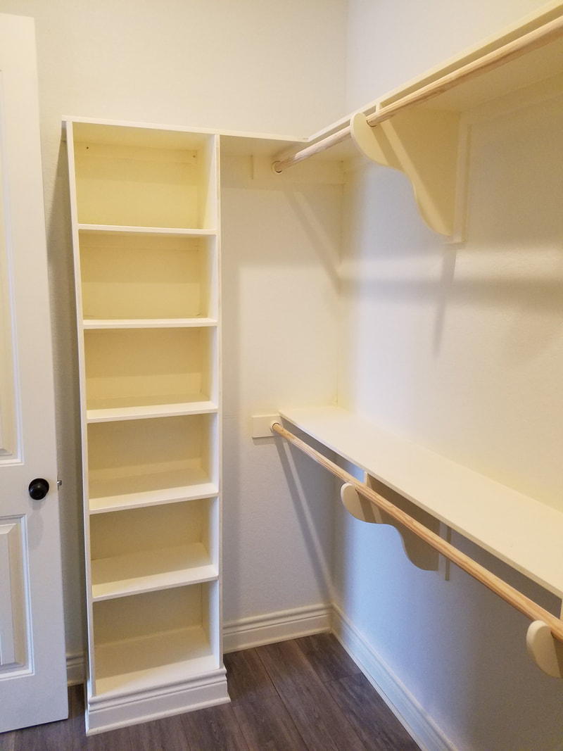 Custom Closet and Built Ins By Domain Homecrafters in Pleasanton, Texas